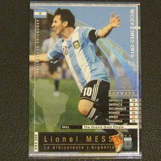 12/13 Panini WCCF Refractor Card Argentine Superstars - Lionel MESSI #Argentina #Barcelona1