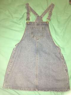 City Beach Denim Pinafore Dress