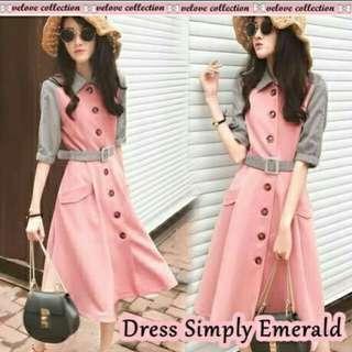 Dress Simply Emerald Pink