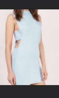 Tobi cut out shift dress in baby blue