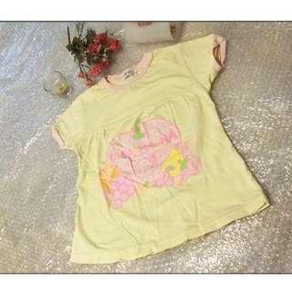 SANRIO HELL0 KlTTY 女童 小孩 兒童 短袖 T恤尺寸120  約小二至小四 只售99元