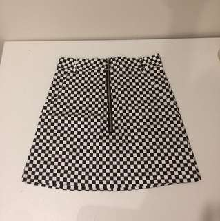 'The Naked Flaw' Checked Skirt