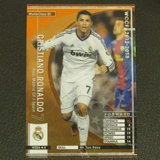 12/13 Panini WCCF Refractor Card World-Class SS - Cristiano RONALDO #Real Madrid