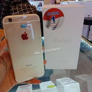 Iphone 6 16gb gold bisa kredit murah, promo gratis admin senilai 199.000