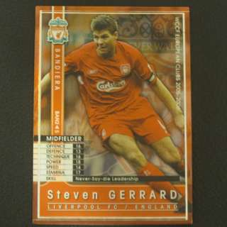 05/06 Panini WCCF Refractor Card BANDIERA - Steven GERRARD #Liverpool