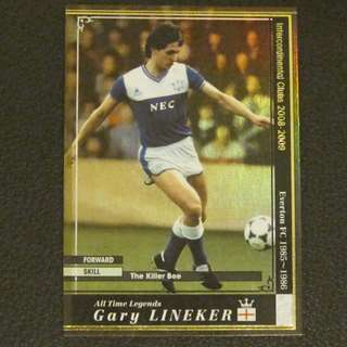 08/09 Panini WCCF Refractor Card All Time Legends - Gary LINEKER #Everton #England
