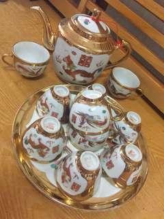 傳統結婚囍慶龍鳳金敬茶茶具套裝