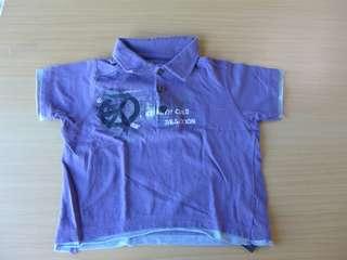 Purple baby polo shirt