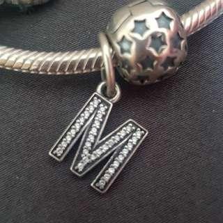 Pandora Alphabet Charm M (100% genuine)