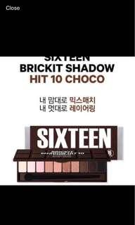 Korea 16brand eyeshadow palette 10 Colours