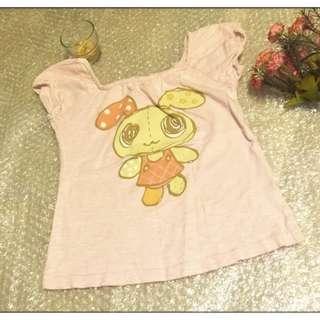 夏天 女童 小孩 兒童 短袖 ㄒ恤 尺寸120 約中班至小一  只售99元