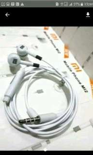 Headset earphone xiaomi M12.