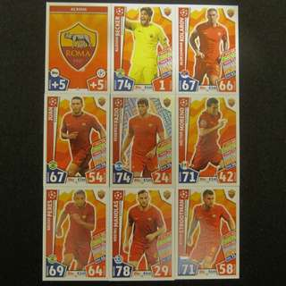 最新 17/18 歐聯 Match Attax Champions League 18 cards TEAM set #AS Roma