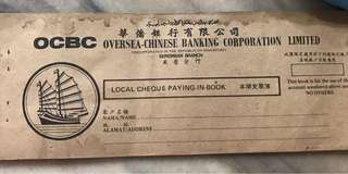 Vintage OCBC Paying-In Book
