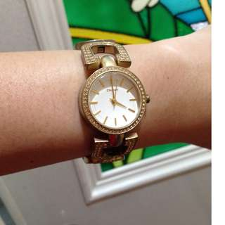 SALE! 💯 Authentic DKNY Gold Watch with Swarovski Stones