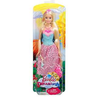 Barbie 12 inch doll with long blonde hair and hairbrush