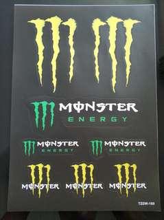 Monster sticker stickerbomb