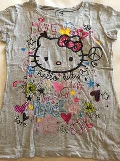 Kaos abu-abu Hello Kitty