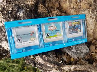 3DS 6pcs game set with hori case