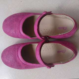 Clarks Girl's Pink Shoes Size 32