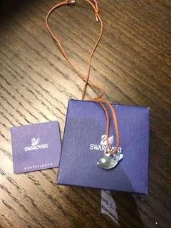 🚚 施華洛世奇 藍水晶小魚造型項鍊