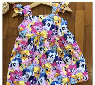 My little pony dress skirt baby girl kid infant toddler big girl