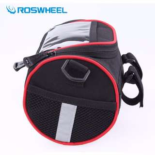 Roswheel 2in1 Red Cylinder HandleBar Pouch Bag Suitable for Xiaomijia scooter/ electric scooters/Bicycle/ Rainproof