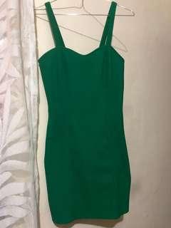 Forever 21 bodycon dress (green)
