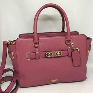 Coach Blake 25 Carryall size 25-32,5x18x12cm Rouge Pink GHW
