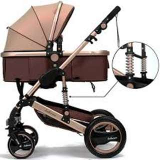 Belecoo Gold Pram with Suspension