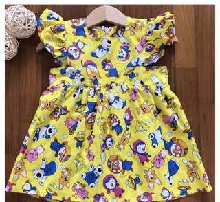 Pororo and friends baby girl dress skirt infant toddler kid