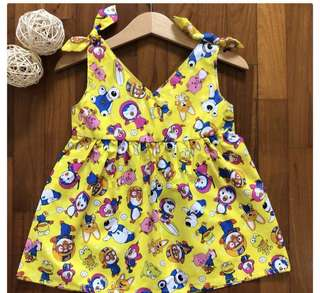 Pororo dress skirt baby girl kid infant toddler