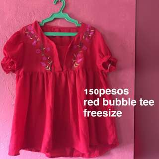 Red Bubble Tee