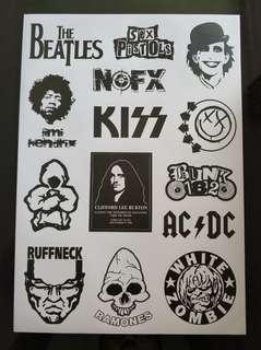 Rockband stickerbomb