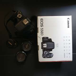 Canon 550D Body w/ Grip and Lenses