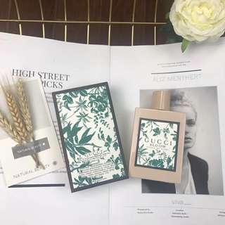 2018新款 Gucci bloom 綠色碎花 香水 bllom100ML