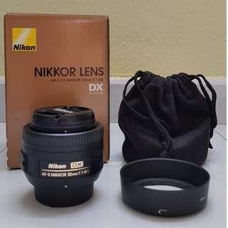 Nikkor Lens AF-S DX 35mm f/1.8G (Prime lens)