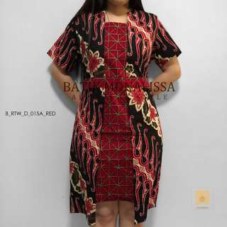 Batik Dress in Red