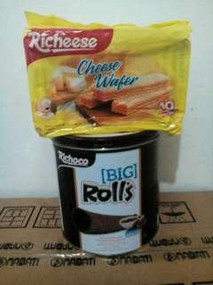 Richoco Big Rolls + Richeese pack of 10 Bundle