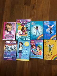 Assortment Girls Books - Rainbow Magic, Lego Friends, Go Girl!