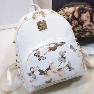 (inc Pos) Ready Stock, Black/white Punk Butterfly Bag