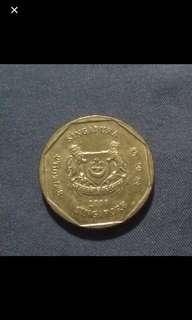 Singapore $1 coin (2008) Last set
