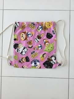 Tsum Tsum Star Wars Drawstring Knapsack for kids