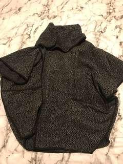 Dark grey poncho style jacket