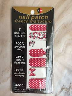 Nail patch minnie mouse