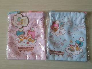 Little Twin Stars 索繩袋 Drawstring Bag (正版)粉紅色 原價@$69一個