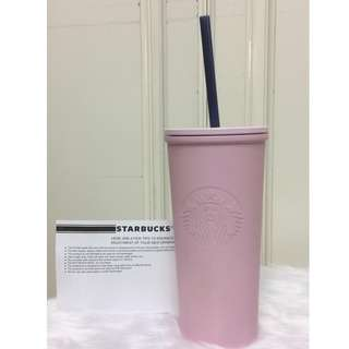 Starbucks Light Pink Stainless Steel Cold Cup 12oz. 23% Off