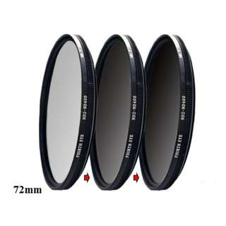 Variable ND filter 72mm (adjustable ND2 to ND400)