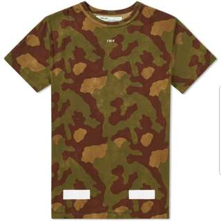 Off-White Camouflage Off White Camo Tee Size XS