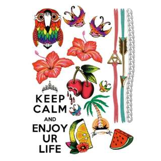 Temporary Tattoo (Keep Calm And Enjoy Ur Life - A5)